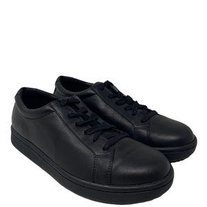 New Eileen Fisher Cal Washed Leather Black Sneakers Size 8.5